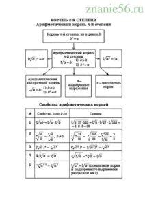 Алгебра корень