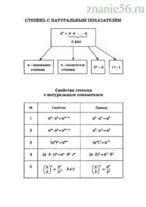 Алгебра степень числа